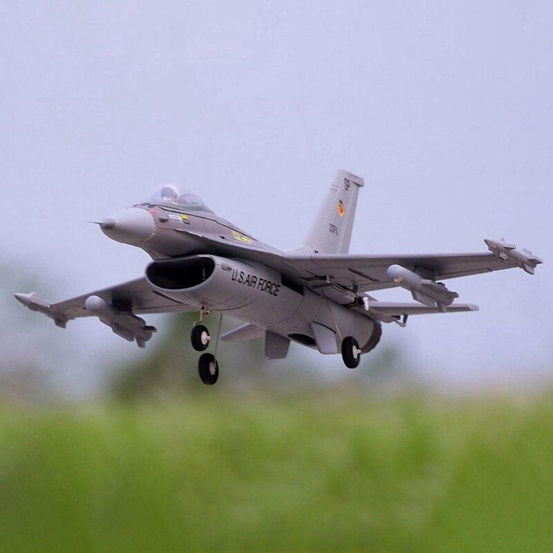 FMS F-16 Fighting Falcon V2 760mm размах крыльев 64 мм 11-лепестковая импеллер самолетов приводимого в движение с помощью электропривода на педальной тяге, ...