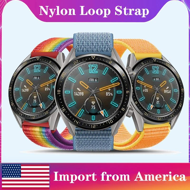 Gear S3 Frontier Strap For Samsung Galaxy Wath Active 2 46mm Amazfit Bip S Nylon Loop 22mm Watch Band Bracelet Hauwei Watch Gt