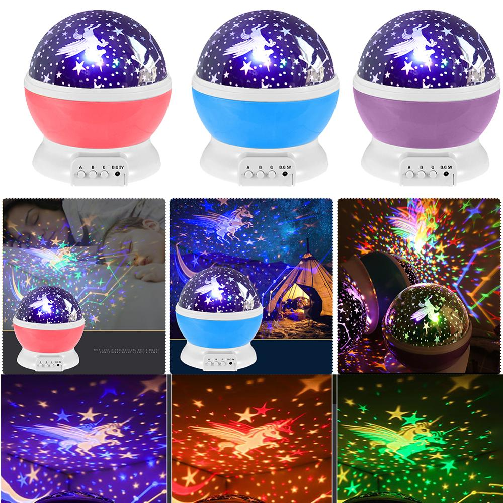 LED Projector Moon Night Lamp Battery USB Bedroom Party Projection Lamp For Children's Night Light Gift Pokemon