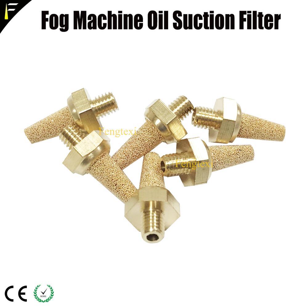 6x atomiseur brouillard fumée brumisateur Machine accessoires huile aspiration cuivre filtre pointe vapeur brumisateur liquide filtre pour scène effet spécial