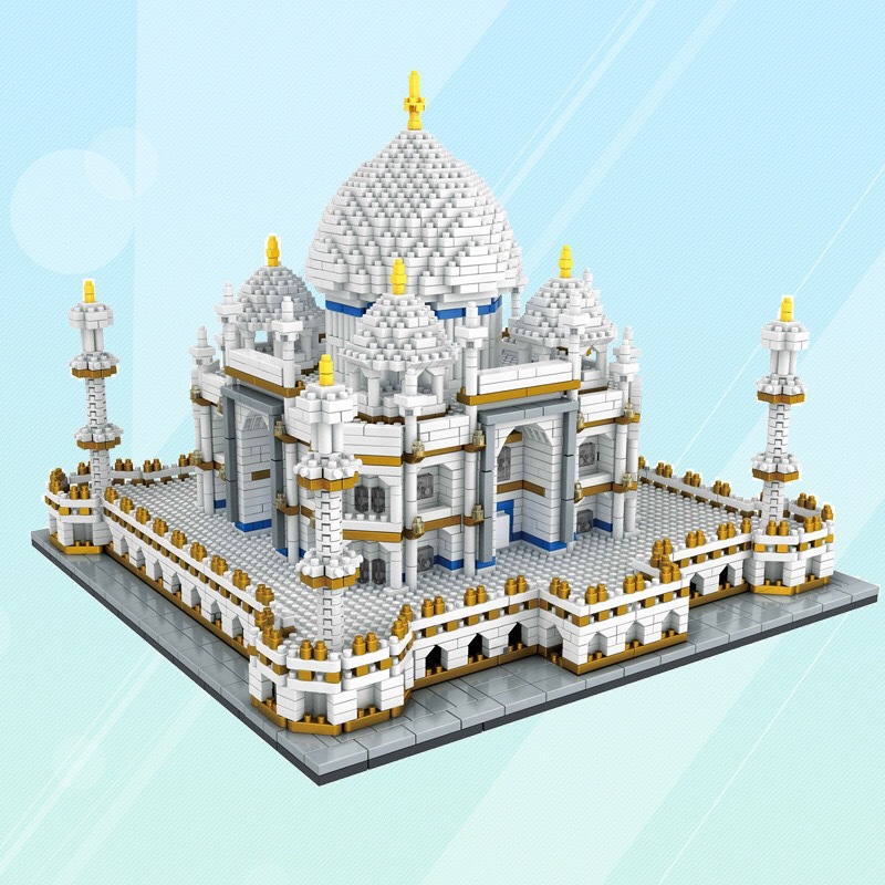 Micro Small Particles Of Diamond Building Blocks Children'S Educational Toy Adult 9914 Taj Mahal Architecture Model