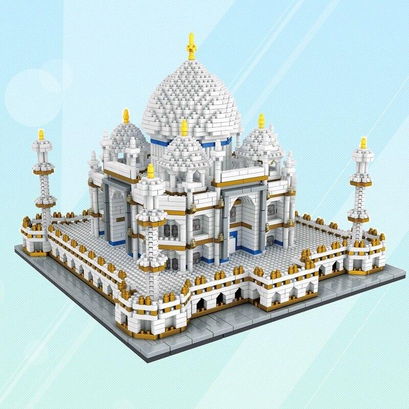 Micro Small Particles of Diamond Building Blocks Children'S Educational Toy Adult 9914 Taj Mahal Architecture Model