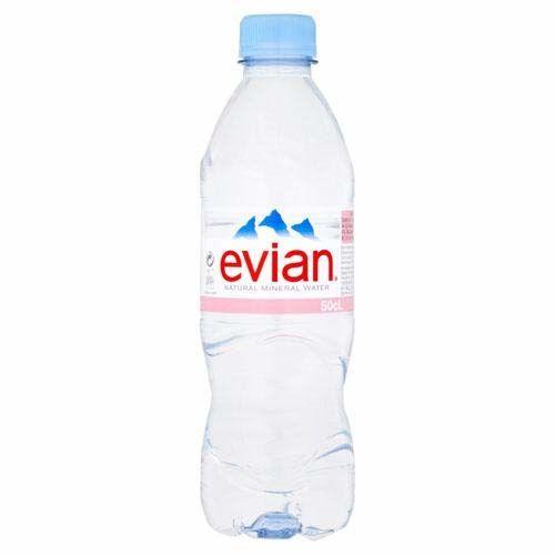 2 X Evian Bottiglia D'acqua In Bottiglia 24 X 500 Ml (48 Bottiglie)