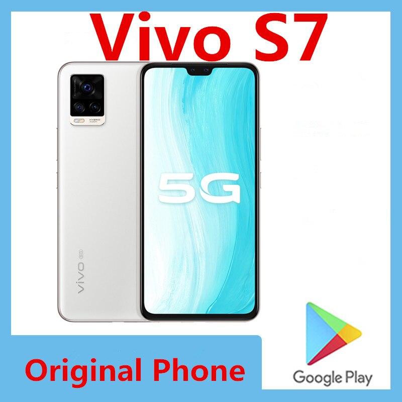Оригинальный Vivo S7 5G смартфон Экран отпечатков пальцев Face ID 64.0MP Snapdragon 76 5G 4000 мА/ч, 33 Вт Супер Зарядное устройство 6,44