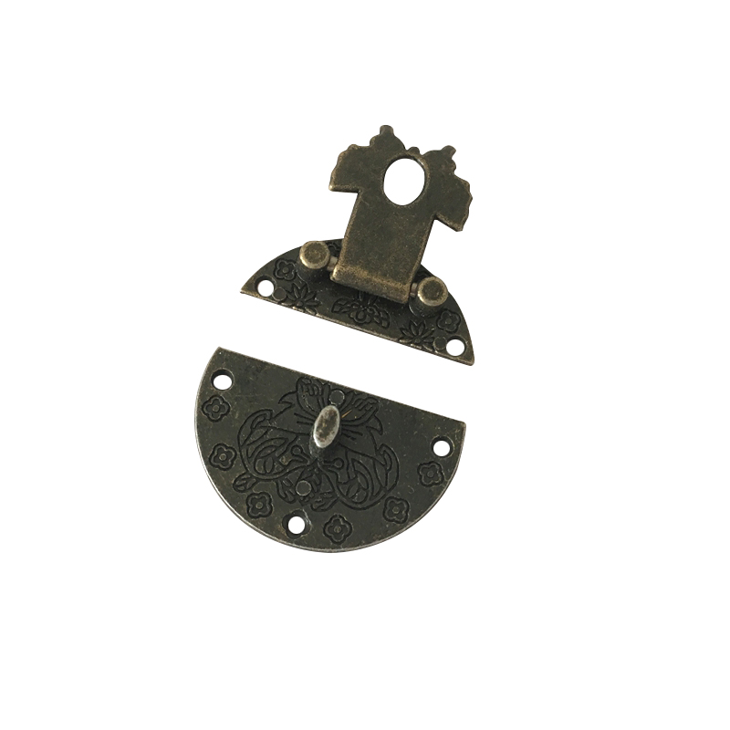 3x Retro Vintage Lock Zinc Alloy Buckle Wooden Wine Gift Box Lock Buckle Box Lock Clasps with Screws