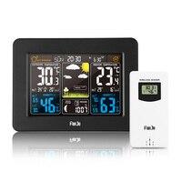 2019 nova estação meteorológica sem fio digital cor previsão alarme indoor outdoor termômetro higrômetro sensor backlight relógio