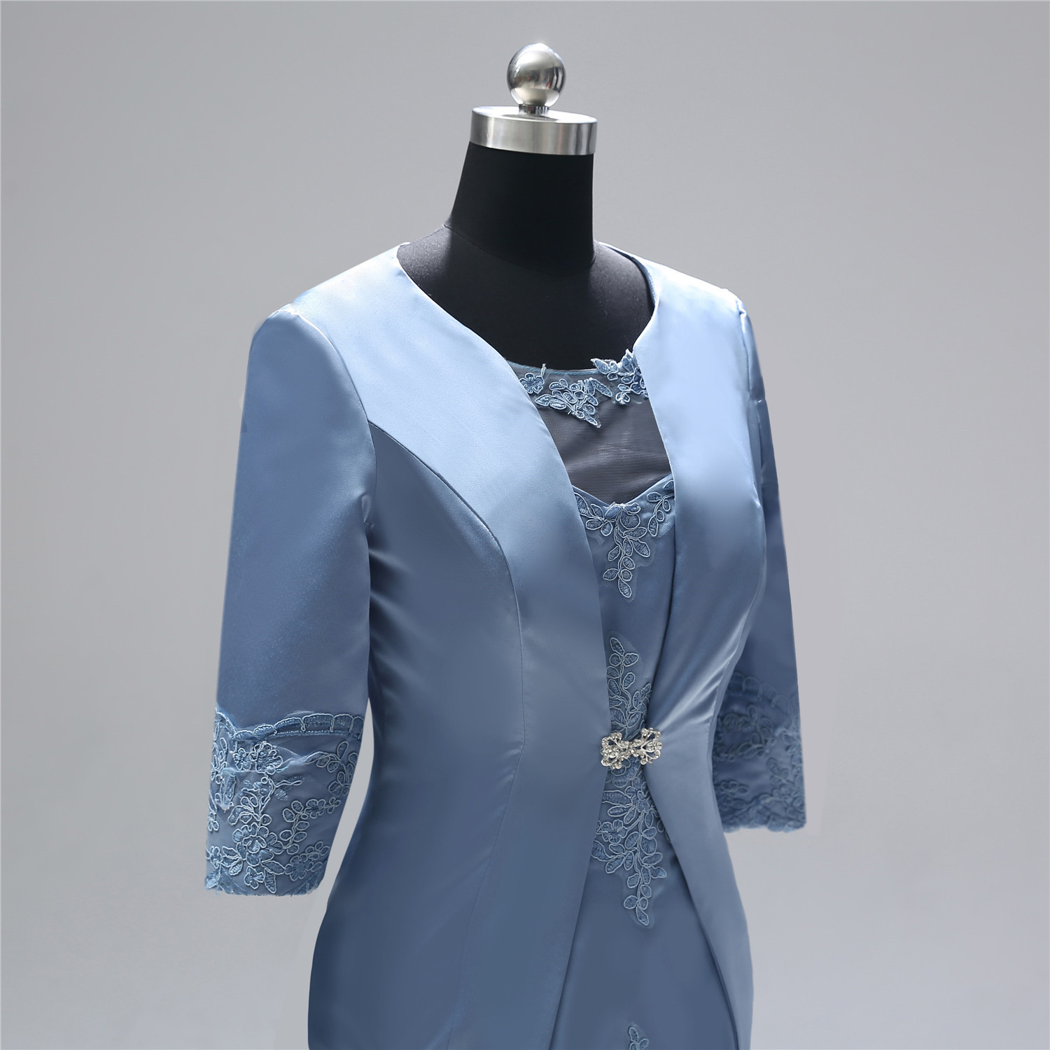 tailor shop custom made lady suit china tailor mother of the bride dresses with jacket  bride mother dress  wedding dress mother