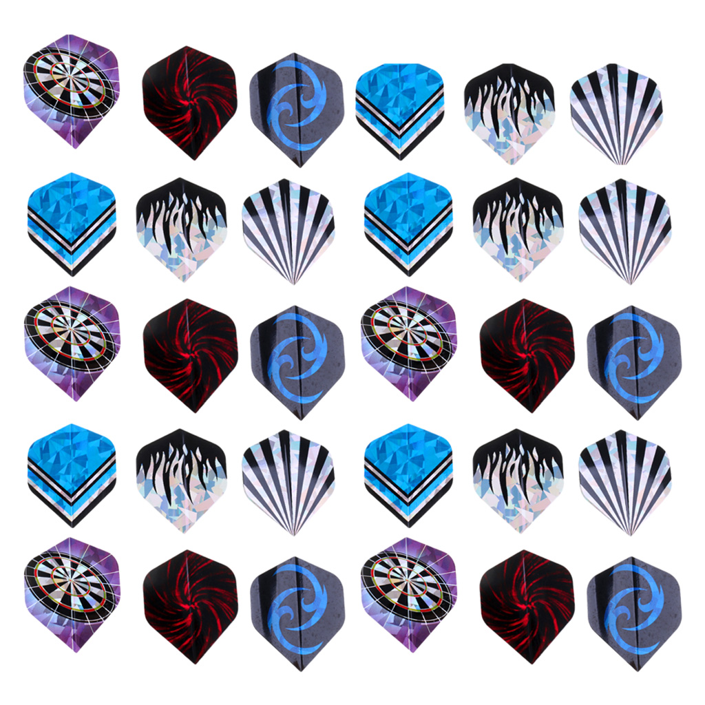 30 Pieces Indoor Dart Game Standard Dart Flights Extra Strong Cool Styles Darts Accessories