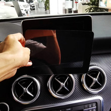 Panel de navegación Central para coche pegatina decorativa de protección pantalla para Mercedes Benz GLA X156 CLA C117 200 A B Class 180 2013 17