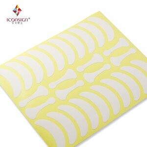 Image 5 - 700 Pairs Onder Eye Pads Wimper Oefeningen Oog Stickers Papier Pluizende Met Vorm Bone Wimpers Patch
