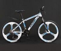 26 인치 산악 자전거 자전거 교대 남성과 여성 성인 오프로드 레이싱 학생 더블 충격 흡수 경량 자전거