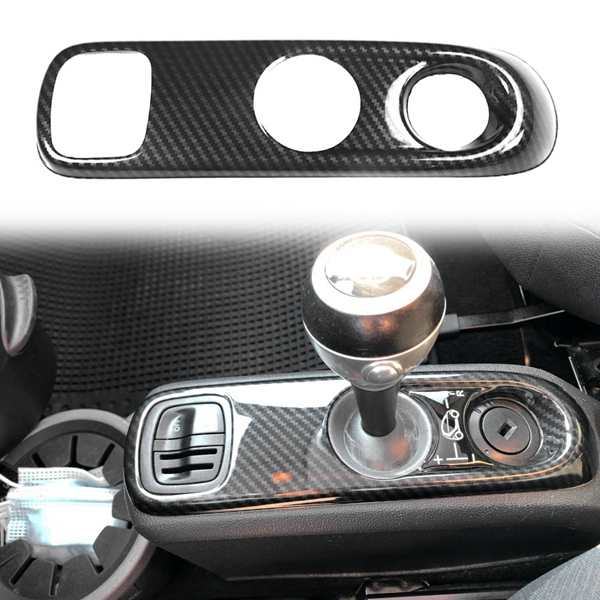 for Mercedes-Benz Smart 451 Fortwo Carbon Fiber ABS Car Gear Shift Knob Panel Frame Cover Trim Car Styling