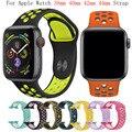 Banda de silicona para apple watch Correa 42mm 38mm reemplazar pulsera iwatch 4/3/2 apple watch banda 44mm 40mm pulsera deporte Correa