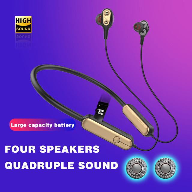 Bluetooth 5.0 Headset Sports Headphons for Running Wireless Headphone with Microphone Support SD Card Earphone for iPhone XS MAX