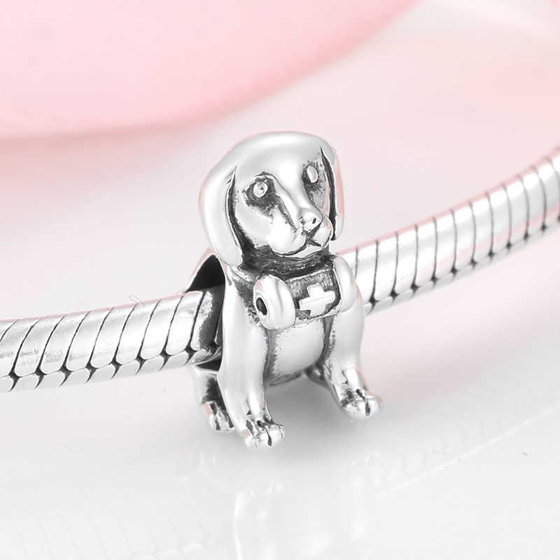 Fit JIUHAO קסם צמיד חרוזים להכנת תכשיטי יוקרה עולם חי 925 כסף סטרלינג קסמי חרוז Diy אביזרי נשים