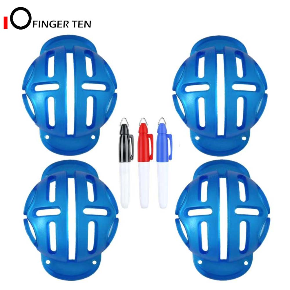 Golf Ball Line Drawing Marker Tool 4 Pc With 3 Color Pens Template Liner Stencil Stamp Putt Alignment