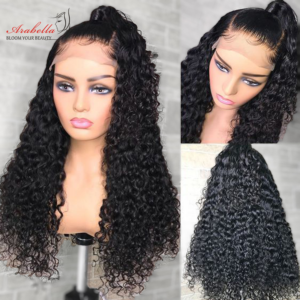 13x4 Water Wave Closure Wig  Lace Front Wig Pre Plucked Bleached Knots Lace Wigs  Frontal Lace Closure Wig 3