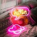 LED Tubo Luci Al Neon Neon Sign Pannello di Luci della Festa di Natale Negozio Decorazione Della Parete di Casa 10 Tipo Colorato Lampada Al Neon Amore ciao
