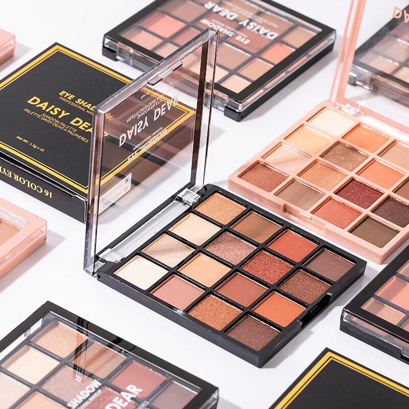 2021 nova venda quente 16 cores sombra paleta sweatproof colorido sombra de olho à prova dwaterproof água alta pigmento maquiagem metálica