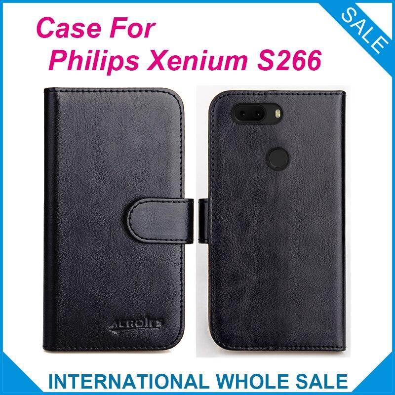 Чехол для Philips Xenium S266, 6 цветов, кожаный чехол-кошелек с откидной крышкой для Philips S266, чехол для телефона с отделениями для кредитных карт