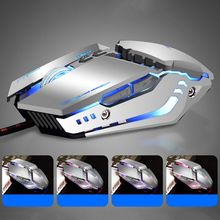 USB Wired Gaming Mouse Professional Macro Program 7 Buttons Mechanical Computer Mice for PC Laptop blue james donkey 007 mac custom computer usb wired length 1 8 m mechanical big mouse laptop game comfortable sense smart mice