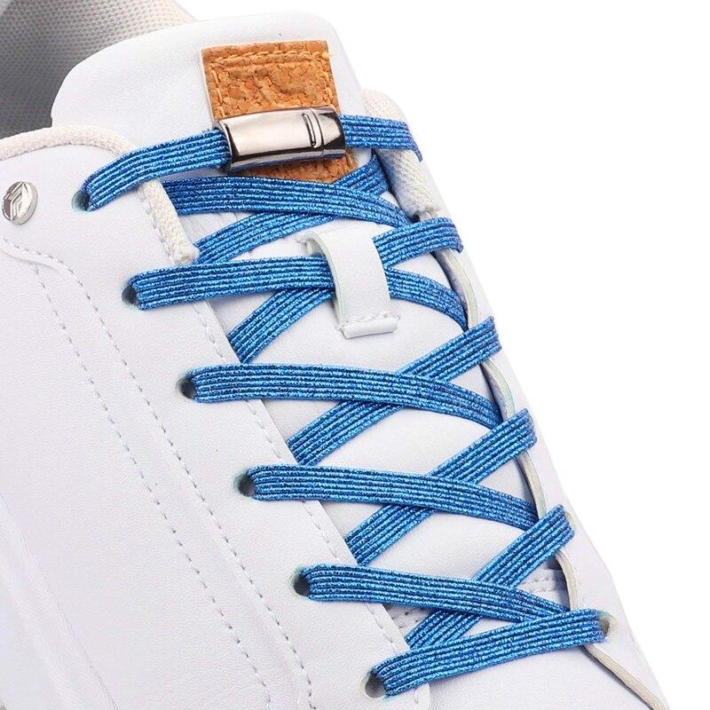 No Tie Shoelaces Elastic Shoe Laces Unisex Leisure Sneakers Quick Lazy Lace Creative Kids Adult Locking Magnetic Shoelace