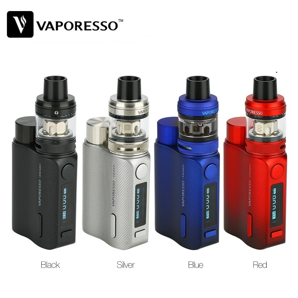 Original Vaporesso Swag 2 80W TC Kit Vs Swag II Box Mod W/ NRG PE Tank 3.5ml Power By 18650 Battery Vape Vs Vaporesso Gen / Luxe