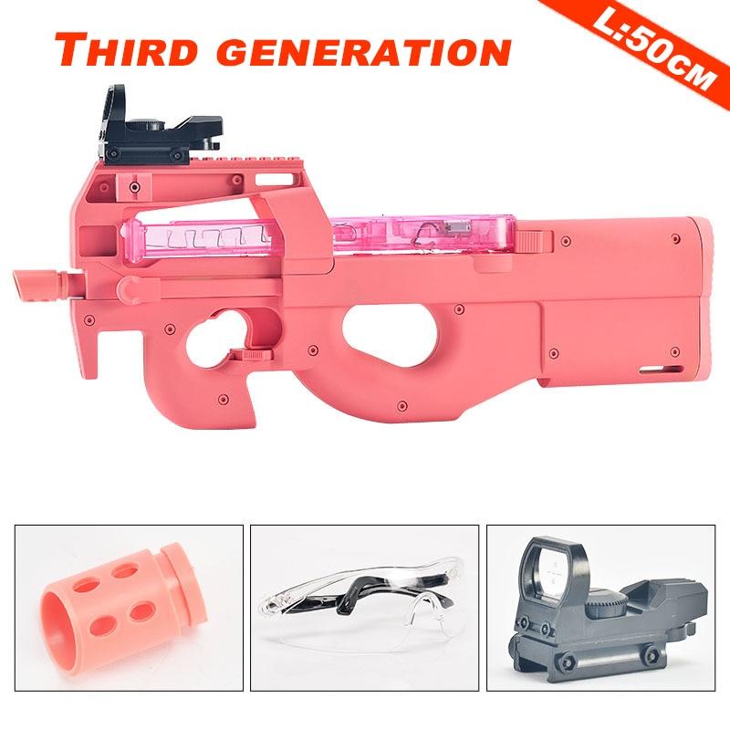 Nylon Infrared Water Bullet Gun P90 Toy for Children Boys Sinper Rifle Safe Water Paintball Outdoor Toys Shooting Gun Kids Gifts 1