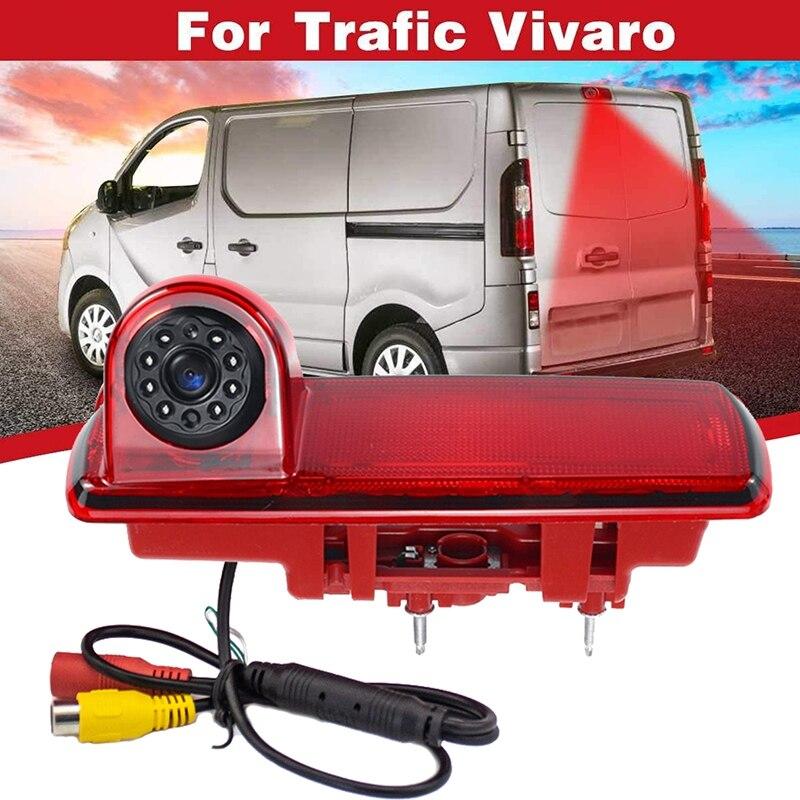 High Definition Waterproof IR Night Vision Rear View Backup Brake Light Camera for 2014 Opel Vivaro / 2014 Renault Trafic,Third