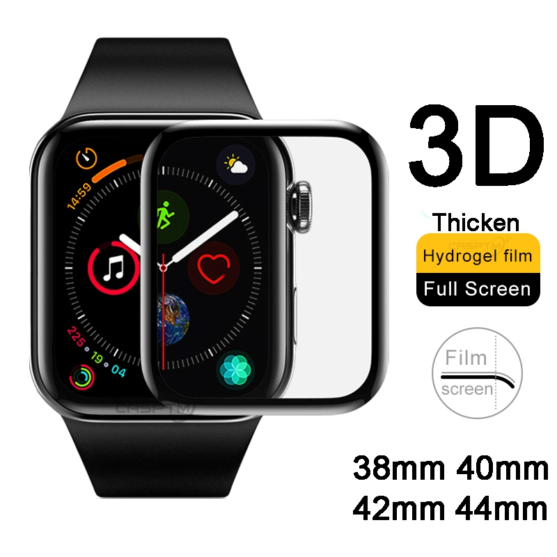 3D Curved Full Hydrogel For Apple Watch 5 1 2 3 4 Screen Protector For IWatch 5 40mm 44mm 42mm 38mm Protective Film Not Glass