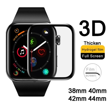 3D Curved Full Hydrogel For Apple Watch 5 1 2 3 4 Screen Protector For iWatch 5 40mm 44mm 42mm 38mm Protective Film Not Glass tempered glass 3d full coverage protector for apple watch 4 curved screen edge protective film for iwatch series 40mm 44mm