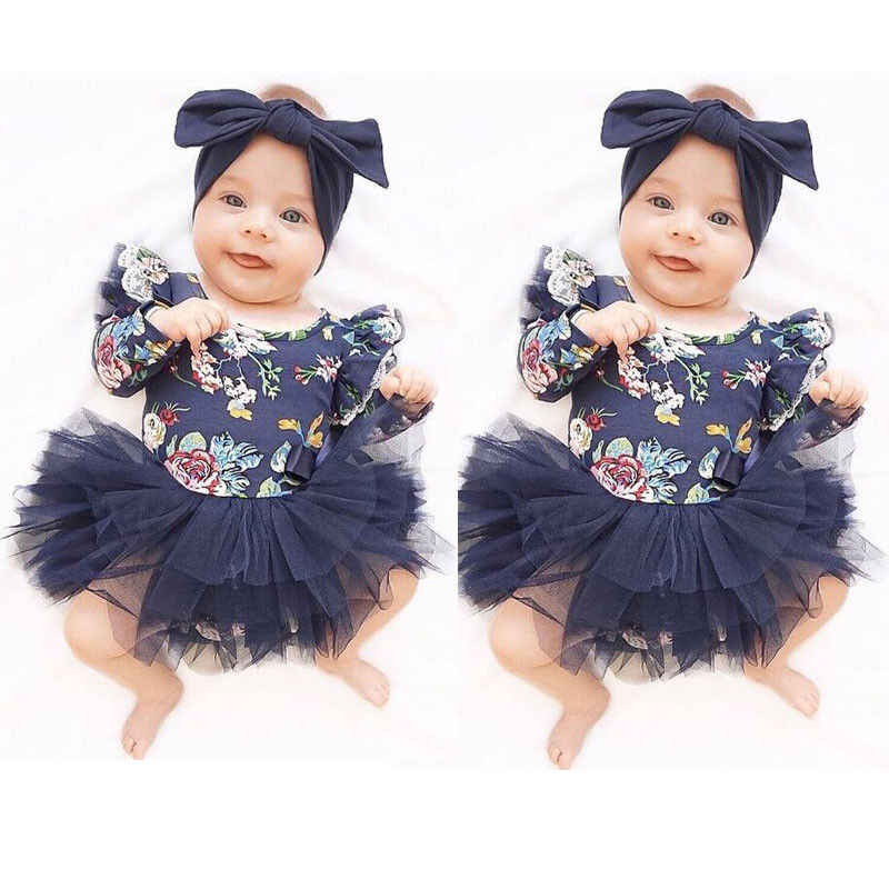 Yürüyor çocuk bebek kız 6 M-18 M mavi kot kot tulum Romper tulum giysileri kıyafet