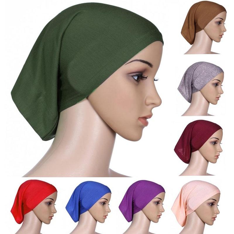 Мусульманский женский шарф Национальный Рамадан аксессуары для волос тюрбан декоративная хлопковая шапка шапочки под хиджаб Мода Защита от солнца пляж