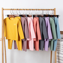 Suit Clothes-Sets Sleepwear Pajamas-Set of Warm Baby Autumn Children Pure-Color 2pcs