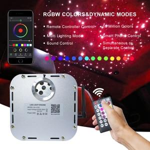 Image 2 - Bluetooth app 32w RGB Twinkle  Fiber Optic Starry Sky Effect Ceiling Light Kit 835Strands *(0.75mm+1mm+1.5mm)*4/5M Optical Fiber