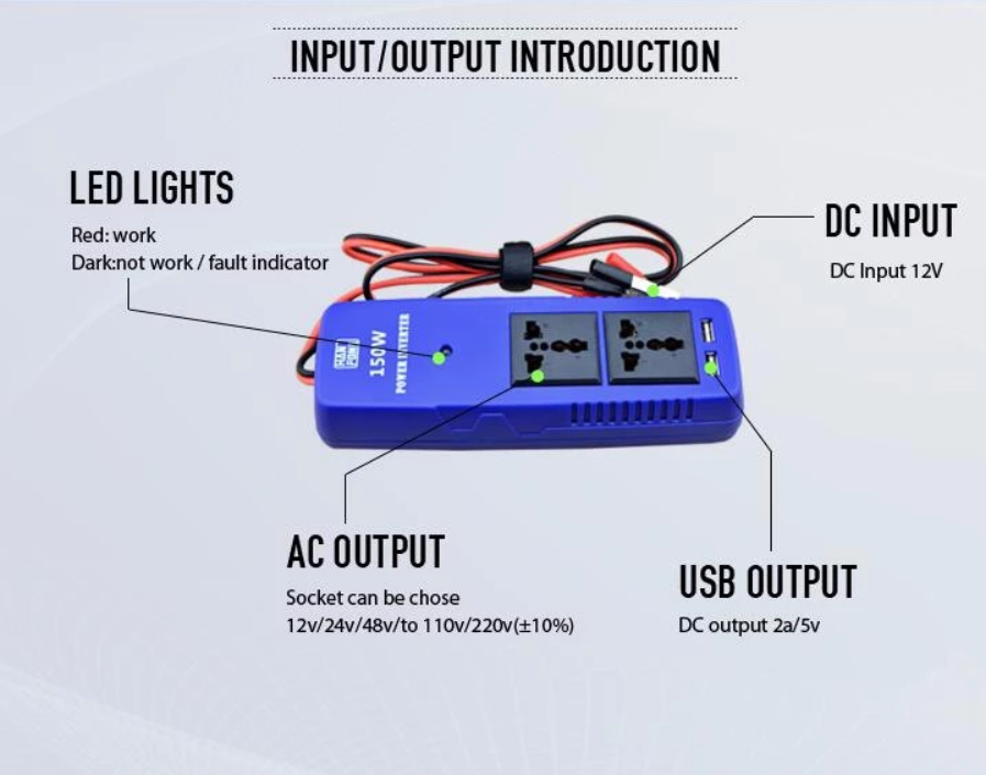 Hafd3345dd7d44978a0fc3b37fce1ba26y - 150W DC to AC Car power modified sine wave inverter for laptops,Huwei,Iphone moiles