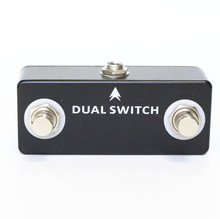 MOSKY DUAL SWITCH Guitar Pedal Dual Footswitch Foot Switch Guitar Effect Pedal Full Metal Shell Guitar Accessories Black