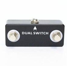 MOSKY 듀얼 스위치 기타 페달 듀얼 풋 스위치 풋 스위치 기타 이펙트 페달 풀 메탈 쉘 기타 액세서리 블랙