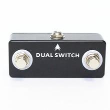 Mosky Dual Switch Gitaar Pedaal Dual Voetschakelaar Voetschakelaar Gitaar Effect Pedaal Full Metal Shell Gitaar Accessoires Zwart