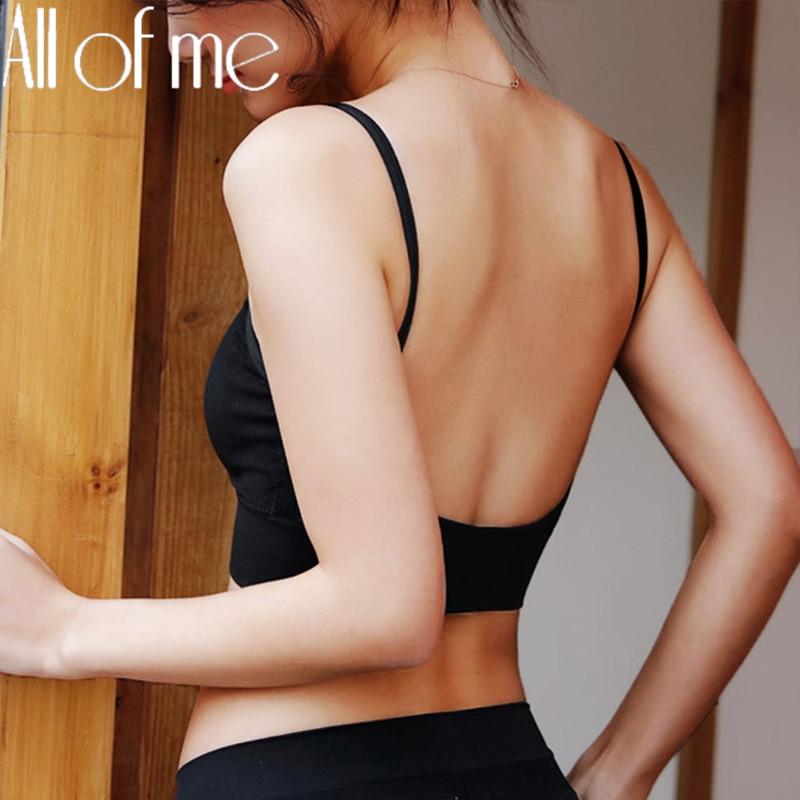 Sexy Bhs für Frauen Backless Tops Nahtlose Bh U Art Unsichtbare Bh Push Up Bralette Büstenhalter Weibliche Tank Top 6 farben Dessous