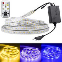 SMD 5050 AC220V LED bande Flexible lumière 60 LED s/m LED étanche bande lumière LED avec prise d'alimentation 1 M/2 M/3 M/5 M/6 M/8 M/9 M/10 m/15 M/20 M