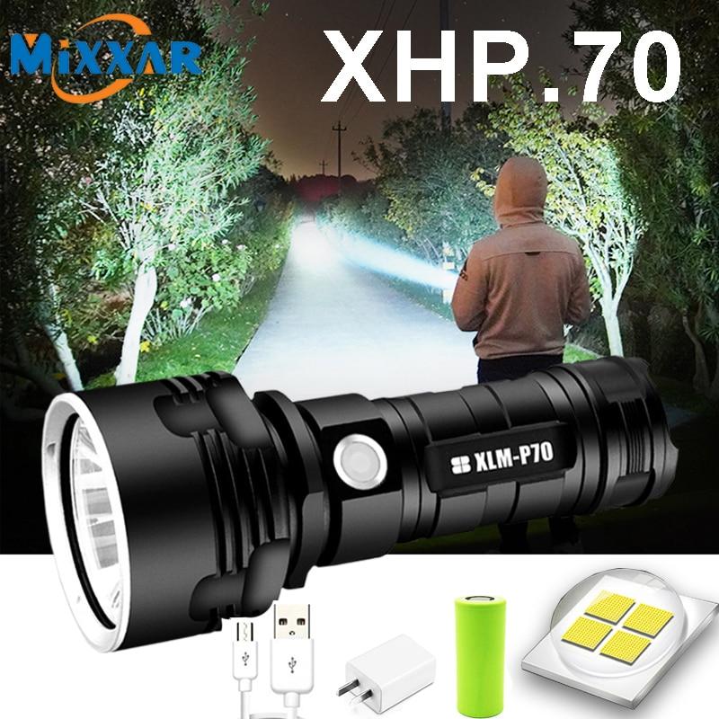Супермощный светодиодный фонарик TZ5 L2 XHP50, тактический фонарь с USB-зарядкой, водонепроницаемый Ультраяркий светильник для кемпинга