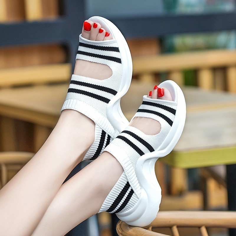 Fairy music 2019 Heeled Sandals Pointed Shallow Mouth Hollowed Out with Color Matching Womens Shoes