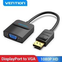 Vention DisplayPort to VGA Adapter 1080P DP to VGA Adapter DP Male to VGA Female Converter for Projector Monitor DP VGA Adapter