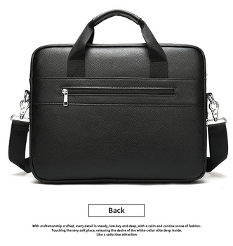 Men's Genuine Leather Briefcase Male Messenger Bag man crossbody bags Work Business Casual travel Bag for Documents totes bag