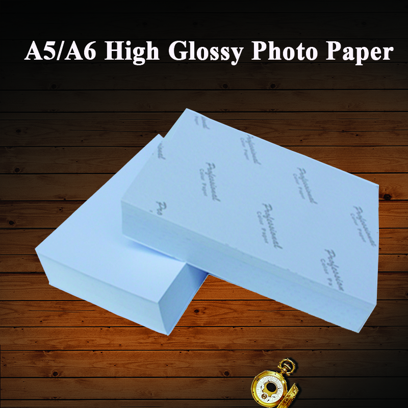A5 A6 100 Sheets High Glossy Photo Paper Cast Coated Printing Photographic Paper For Inkjet Printer 180g 200g 230g