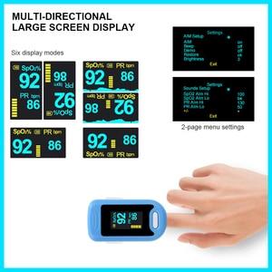 Image 3 - RZ الإصبع نبض مقياس التأكسج معدل المنزل ضغط الدم الرعاية الصحية CE OLED عرض الأكسجين إنذار الإعداد