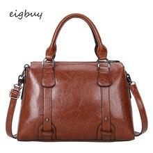 Women bag Oil wax Women's Leather Handbags Luxury Lady Hand Bags Bolsas Femininas Sac A Main Brown Black Women's Crossbody bags цена