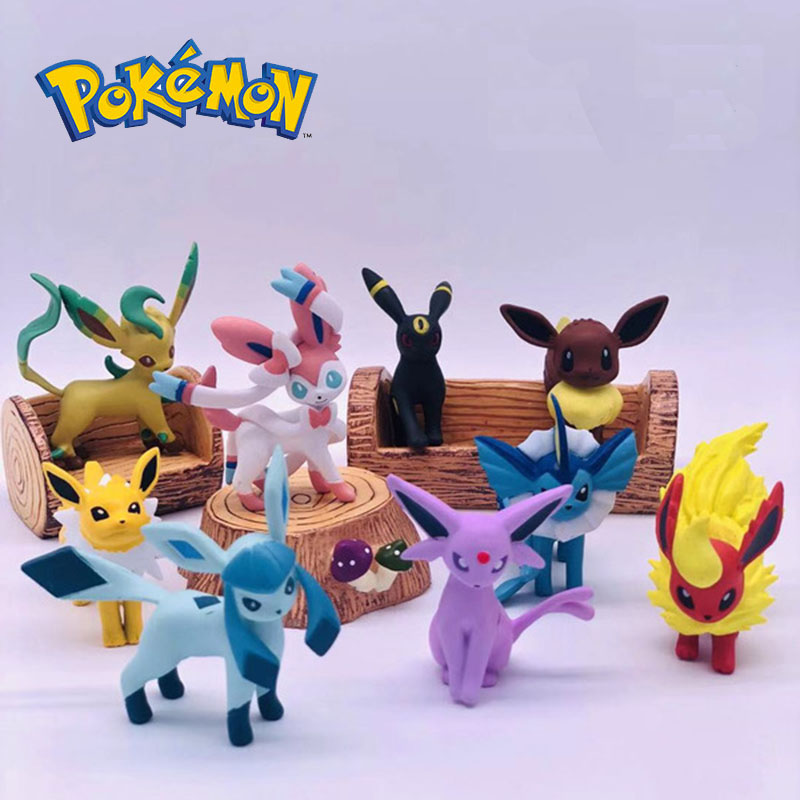 Takara Tomy Pokemon Eevee Family Figure Toys Model Collection Eevee Action Toys for Children Birthday Gifts 2