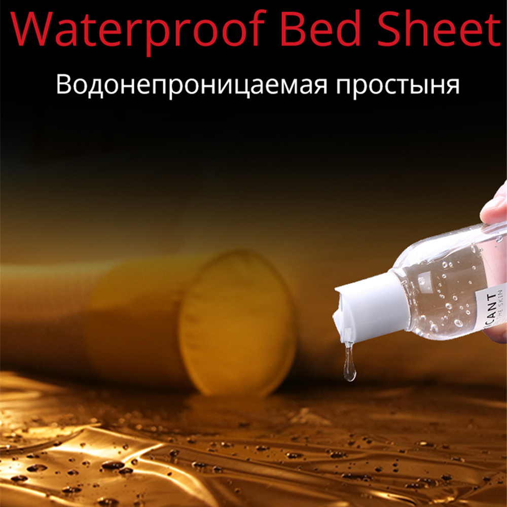 <font><b>PVC</b></font> Bed <font><b>Sheets</b></font> For Sex Fitted Queen Size Waterproof Hypoallergenic Adult Play SPA Massage Mattress Cover Bedding Set image